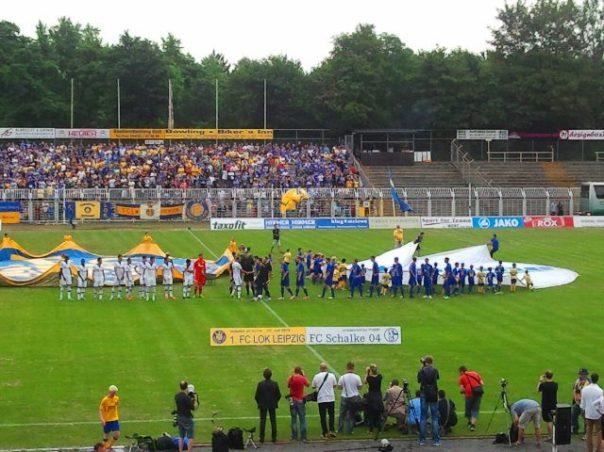 1. FC Lok Leipzig gegen Schalke 04