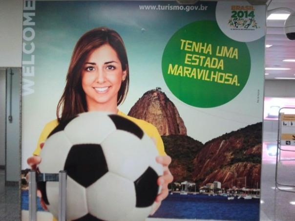 WM-Begrüßung am Flughafen in Rio de Janeiro